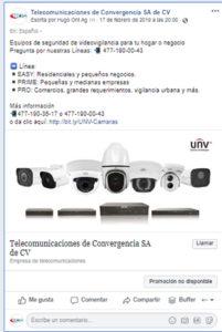 Campaña facebook visitas al sitio web