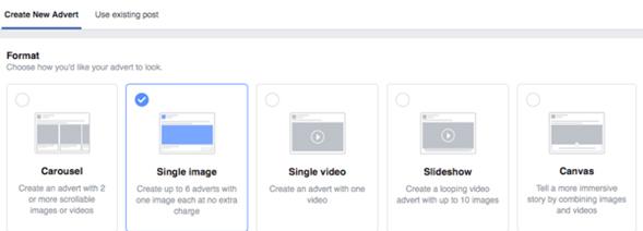formatos permitidos facebook ads
