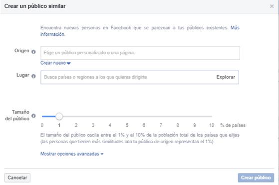 publico personalizado facebook