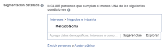Segmentacion de intereses facebook